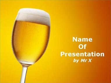 Glass of Champagne Powerpoint Template image