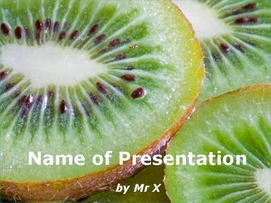 Kiwi Slices Powerpoint Template image