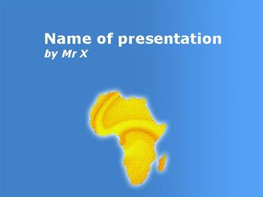 Gold Africa Powerpoint Template