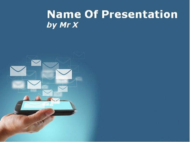 Smartphone And Mobile Applications Powerpoint Template Image