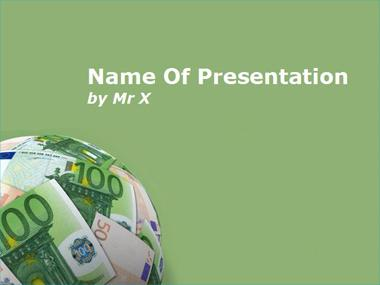Earth of Money Powerpoint Template image