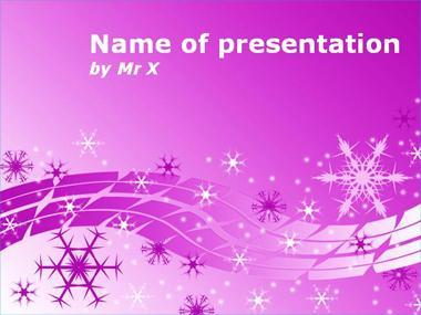 Purple Snow Powerpoint Template