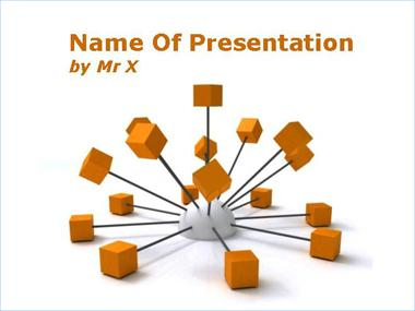 Connected Social Network Powerpoint Template image