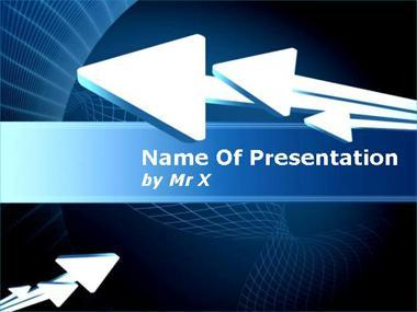 Multiple White Arrows Powerpoint Template image