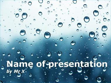 Dark Water Drops Powerpoint Template image