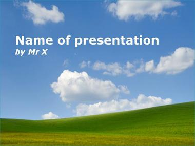 Peaceful landscape Powerpoint Template image