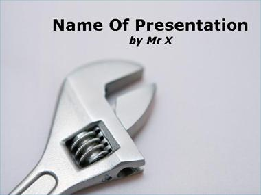 A tool Powerpoint Template image