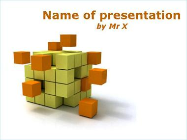 Orange cubic disaggregation Powerpoint Template image