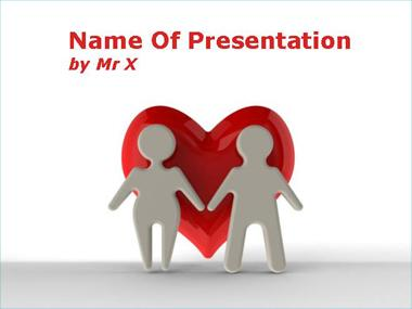 One Big Love Heart Powerpoint Template image