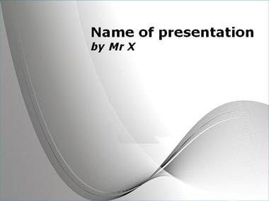 Grey Curves on Blankboard Powerpoint Template image