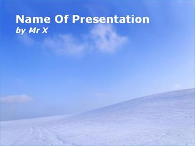 Winter landscape powerpoint template toneelgroepblik Choice Image