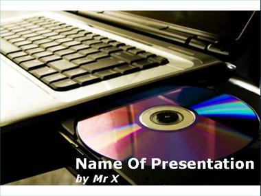 DVD in a laptop Powerpoint Template