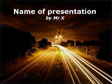 Transportation powerpoint templates a road in the dark night powerpoint template toneelgroepblik Choice Image