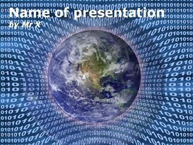 Binary Earth Powerpoint Template image