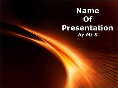 Sun Flames Powerpoint Template