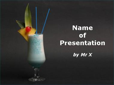 Blue Cocktail Powerpoint Template image