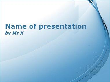 Blue Curly Powerpoint Template image