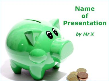 Green Piggy Bank Powerpoint Template image