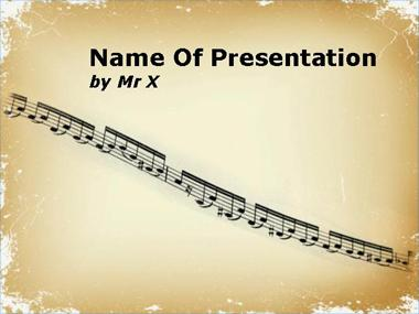 Music Partition Powerpoint Template image