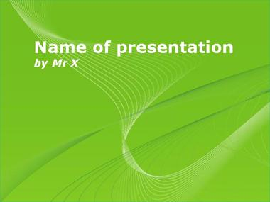 White Curves on Greenboard Powerpoint Template image