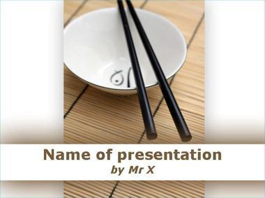 Rice Bowl And Chopsticks Powerpoint Template image