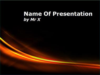 Curves of Fire Powerpoint Template image