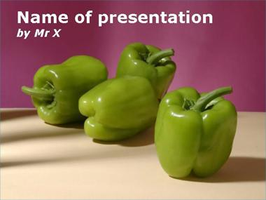 Fresh Green Peppers Powerpoint Template