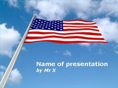 The American Flag Powerpoint Template image