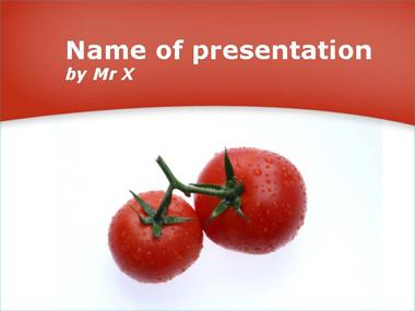 Two big Tomatoes Powerpoint Template