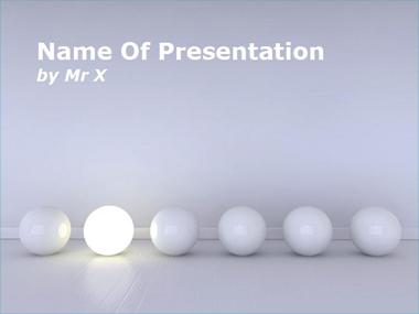 Light Ball Powerpoint Template image
