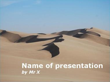 Desert sands Powerpoint Template image
