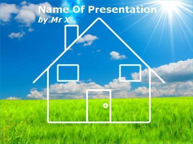 Green House Powerpoint Template image