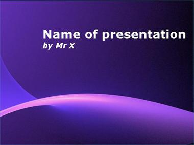 Purple Sunshine Powerpoint Template image