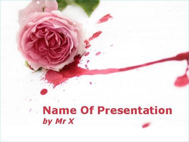 A Rose Flower in Blood Powerpoint Template image