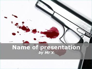 Gun and Blood Powerpoint Template image