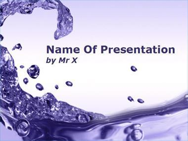 Purple Water Flow Powerpoint Template image
