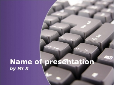 Computer Keyboard Purple Version Powerpoint Template image