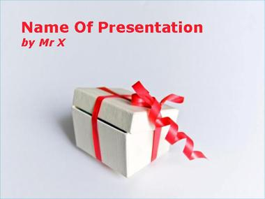 Present Box Powerpoint Template image