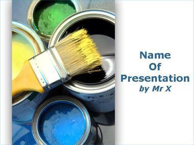 Paint Pots Powerpoint Template image