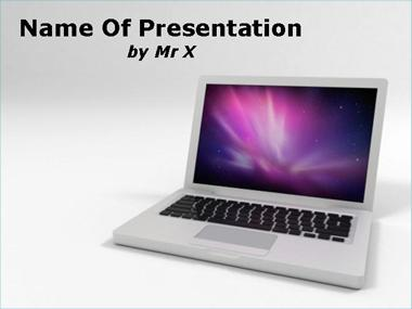 Abstract Background on a Computer Powerpoint Template image