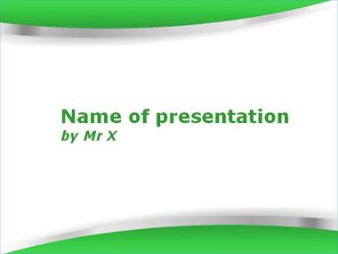 The Twin Blades Green Version Powerpoint Template image