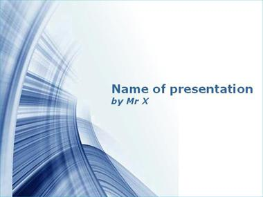 Blue Syphon Powerpoint Template