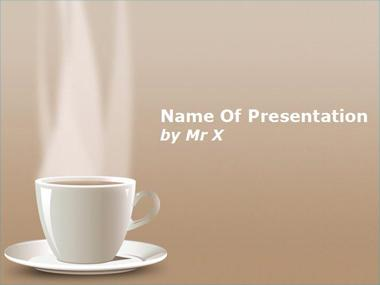 Hot Cup of Coffee Powerpoint Template image