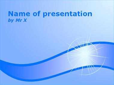 Shining Blue Powerpoint Template image