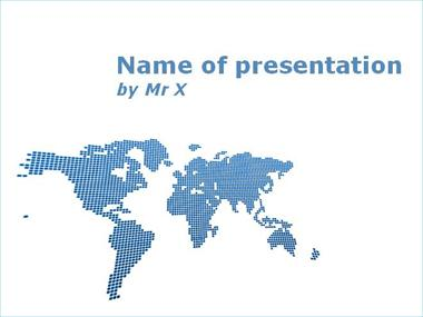 Worldmap of Dots Powerpoint Template image