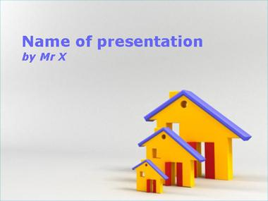 Three Growing Houses Powerpoint Template image