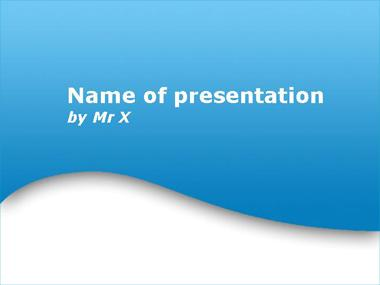 Light Blue Wave Powerpoint Template image