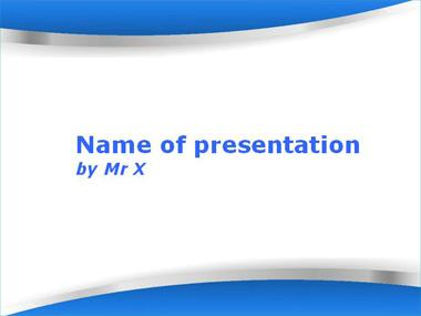 The Twin Blades Blue Version Powerpoint Template image