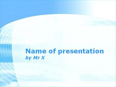 Light Blusy Powerpoint Template
