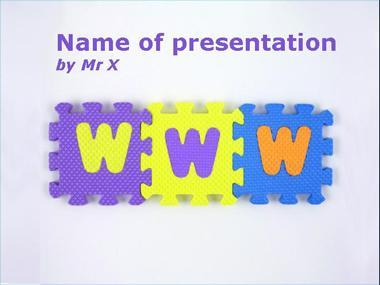 WWW Puzzle Powerpoint Template image